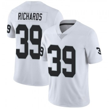 Men's Oakland Raiders Jordan Richards White Limited Vapor Untouchable Jersey By Nike