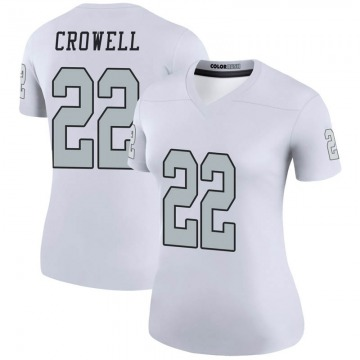 Women's Oakland Raiders Isaiah Crowell White Legend Color Rush Jersey By Nike