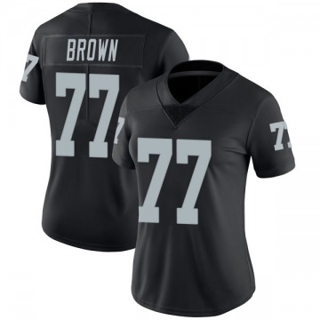 Women's Oakland Raiders Trent Brown Black Limited Team Color Vapor Untouchable Jersey By Nike