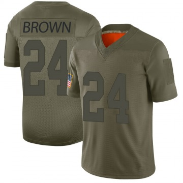 Youth Las Vegas Raiders Willie Brown Brown Limited Camo 2019 Salute to Service Jersey By Nike