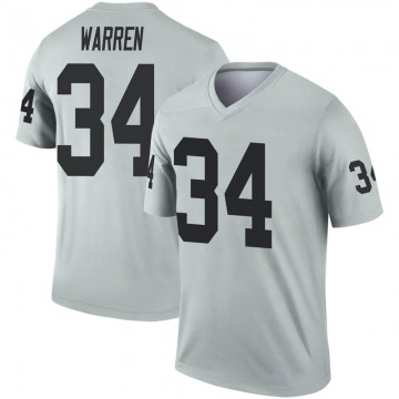 Youth Oakland Raiders Chris Warren Legend Inverted Silver Jersey By Nike