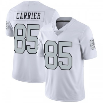 Youth Oakland Raiders Derek Carrier White Limited Color Rush Jersey By Nike