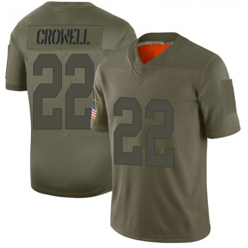 Youth Oakland Raiders Isaiah Crowell Camo Limited 2019 Salute to Service Jersey By Nike