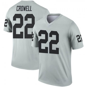 Youth Oakland Raiders Isaiah Crowell Legend Inverted Silver Jersey By Nike