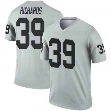 Youth Oakland Raiders Jordan Richards Legend Inverted Silver Jersey By Nike