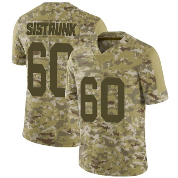 Youth Oakland Raiders Otis Sistrunk Camo Limited 2018 Salute to Service Jersey By Nike