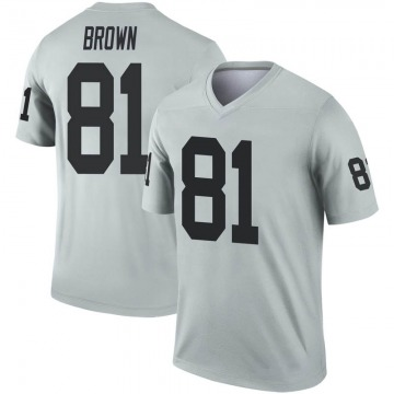 Youth Oakland Raiders Tim Brown Brown Legend Inverted Silver Jersey By Nike