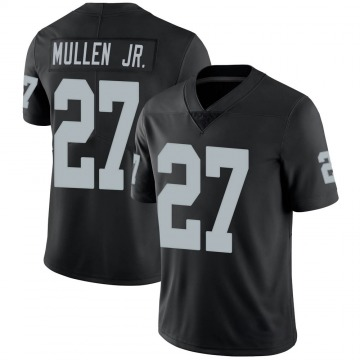 Youth Oakland Raiders Trayvon Mullen Black Limited Team Color Vapor Untouchable Jersey By Nike